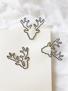 Black Deer-head paperclip