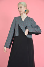 Izar Oversized ankle length Winter Coat with full sleeves with option of an open slit back.