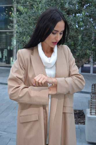 oversized coat with pockets