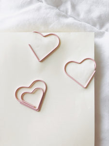 Pink Heart Paperclip