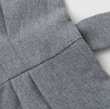 Formal Grey Crisp Romper