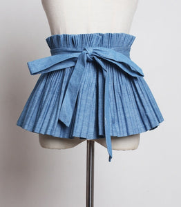 Pleated Split Wide Belt
