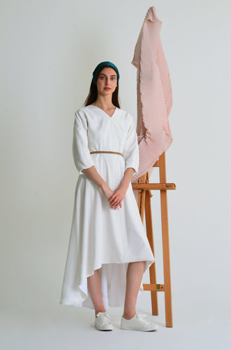 Thea oversized high-low cotton dress