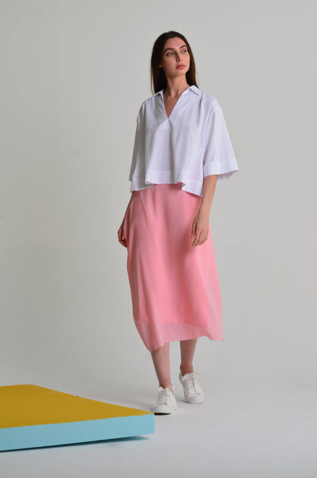Uri high-waisted midi skirt