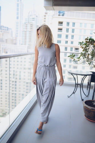 Women's Pleated Strappy Jumpsuit