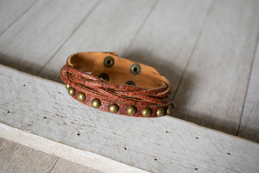 Come What May Leather Bracelet