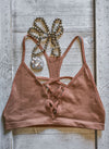Criss Cross Bralette, Copper