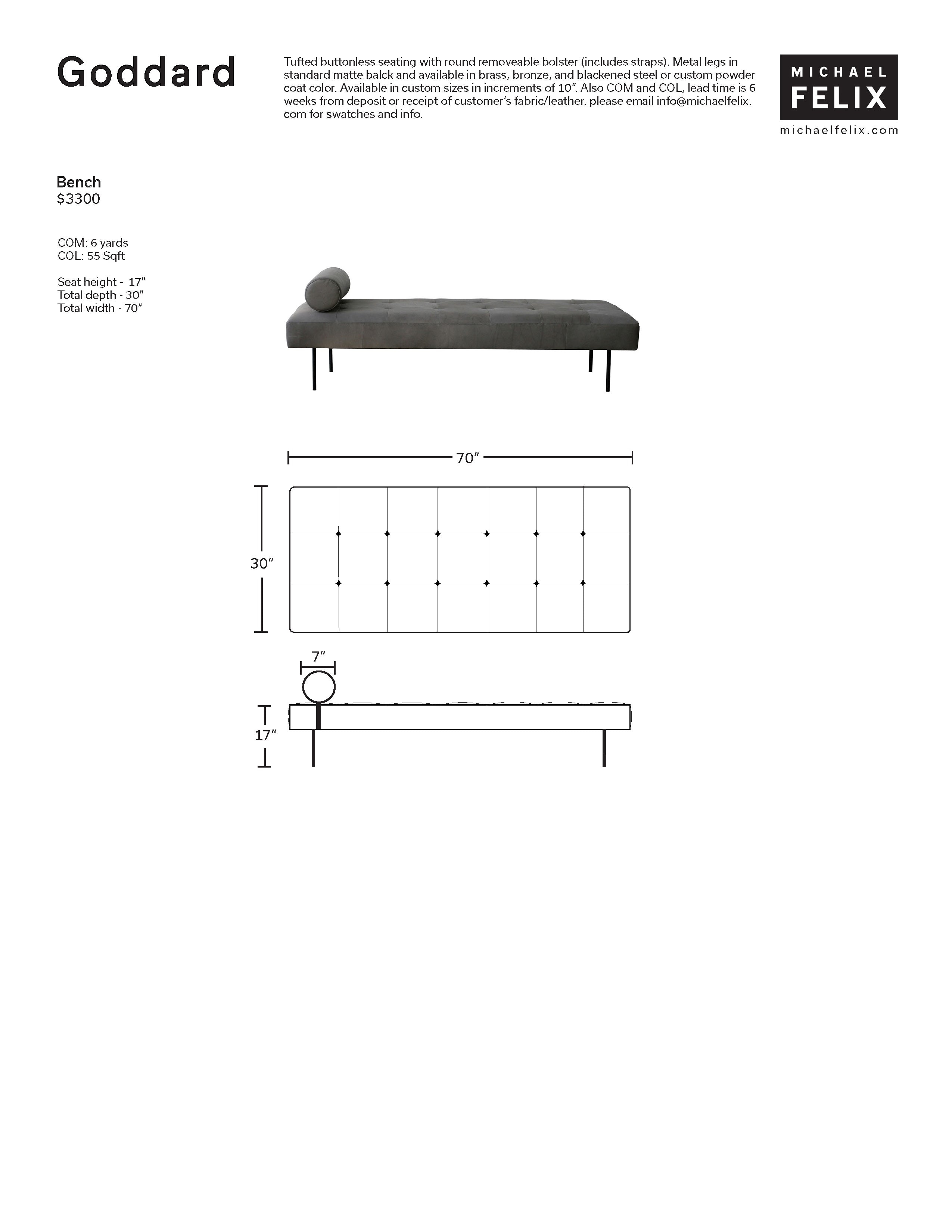 Michael Felix Goddard Bench Tear Sheet
