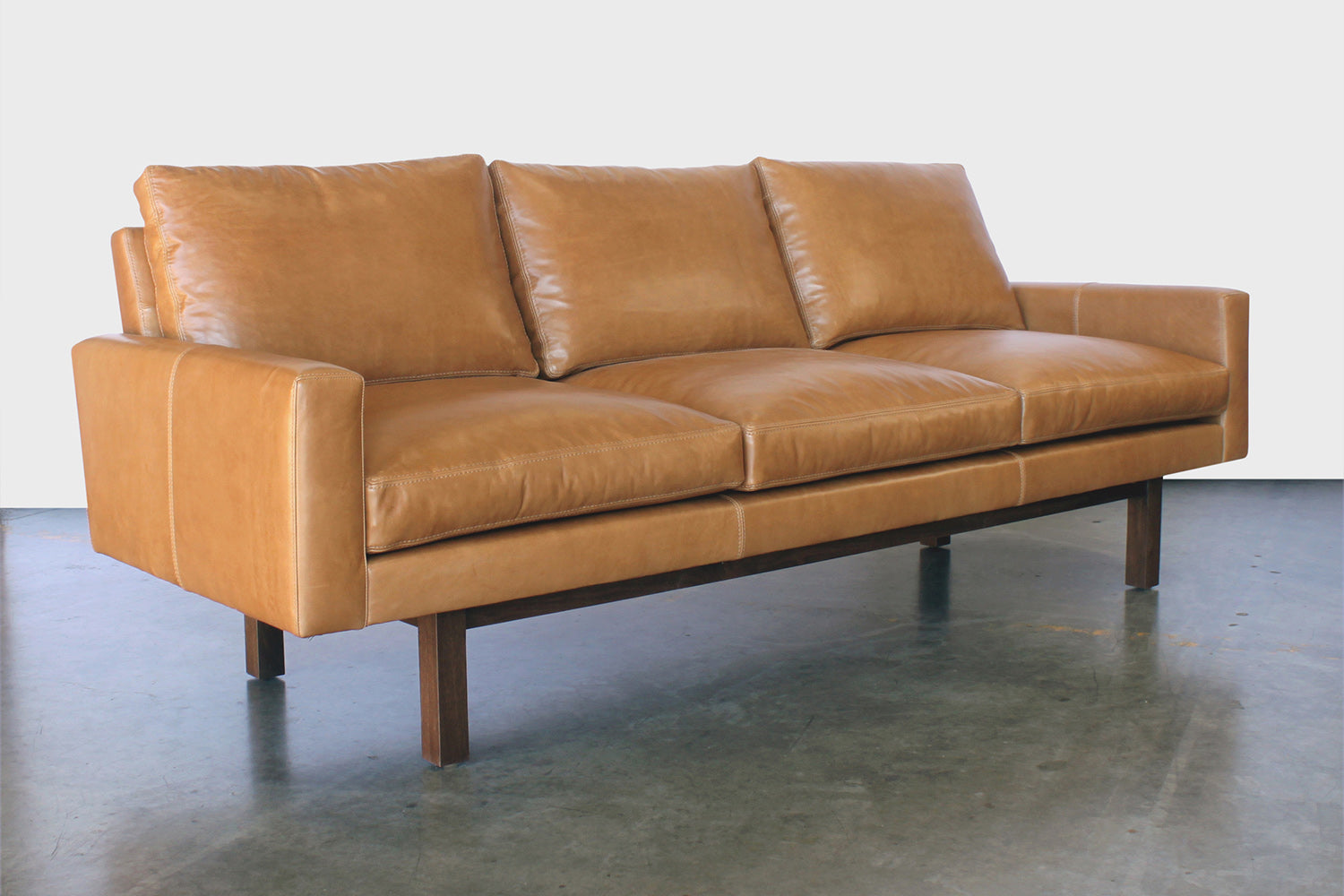 Standard Sofa, Large in Caramel