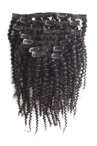 Human Hair Clip In's | For Curly Kinky Afro Hair