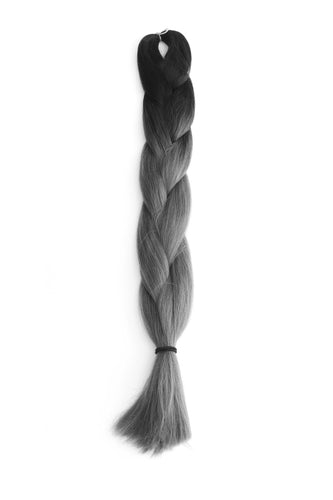 Jumbo Braid: Dark Grey Ombre