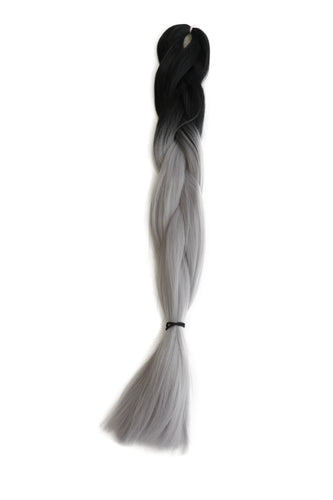 Jumbo Braid: Light Grey Ombre