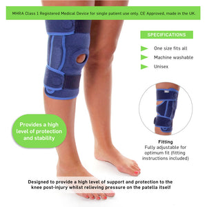 66fit Elite Stabilized Hinged Knee Support