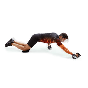 66fit Twin Ab Roller Wheels with Kneel Pad