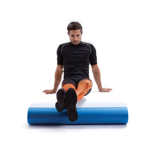 66fit EVA Foam Roller - Blue - 15cm x 90cm