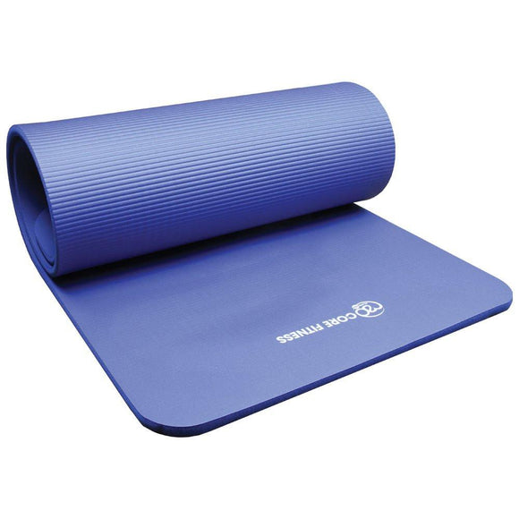 Fitness-Mad Stretch Fitness Mat - Light Blue 10mm