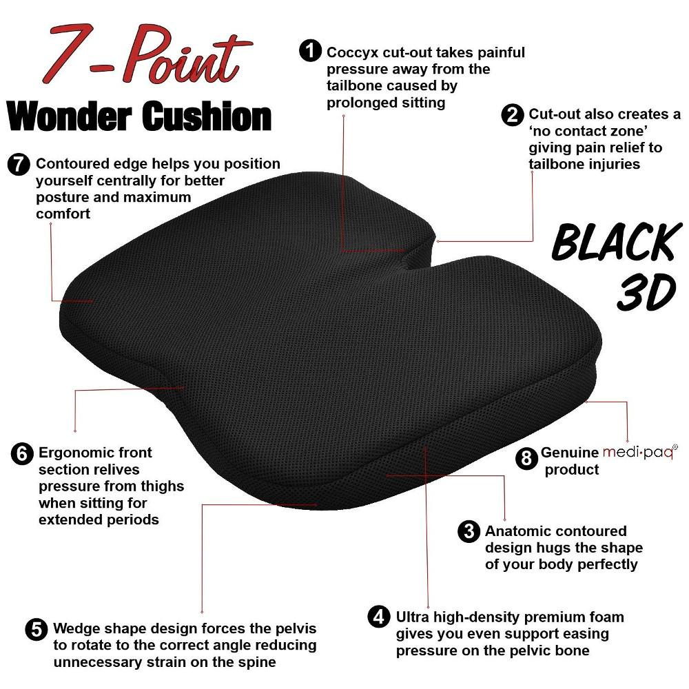 Medipaq Freedom Wedge Cushion Premium Support For Coccyx Pain