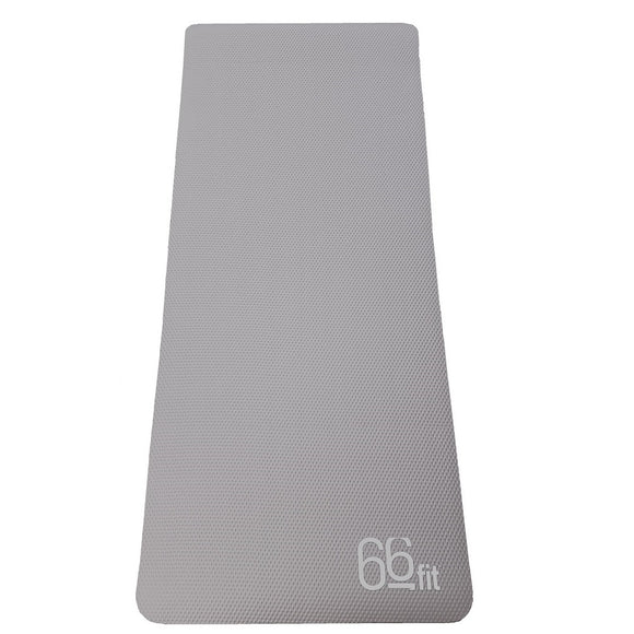 66fit NBR Exercise Mat Graphite Grey - 185cm x 80cm x 1cm