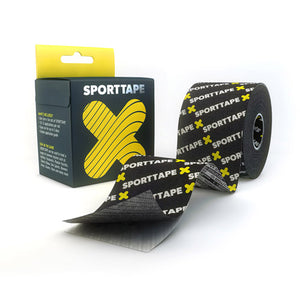 SPORTTAPE Xtra Sticky Kinesiology Tape - Black