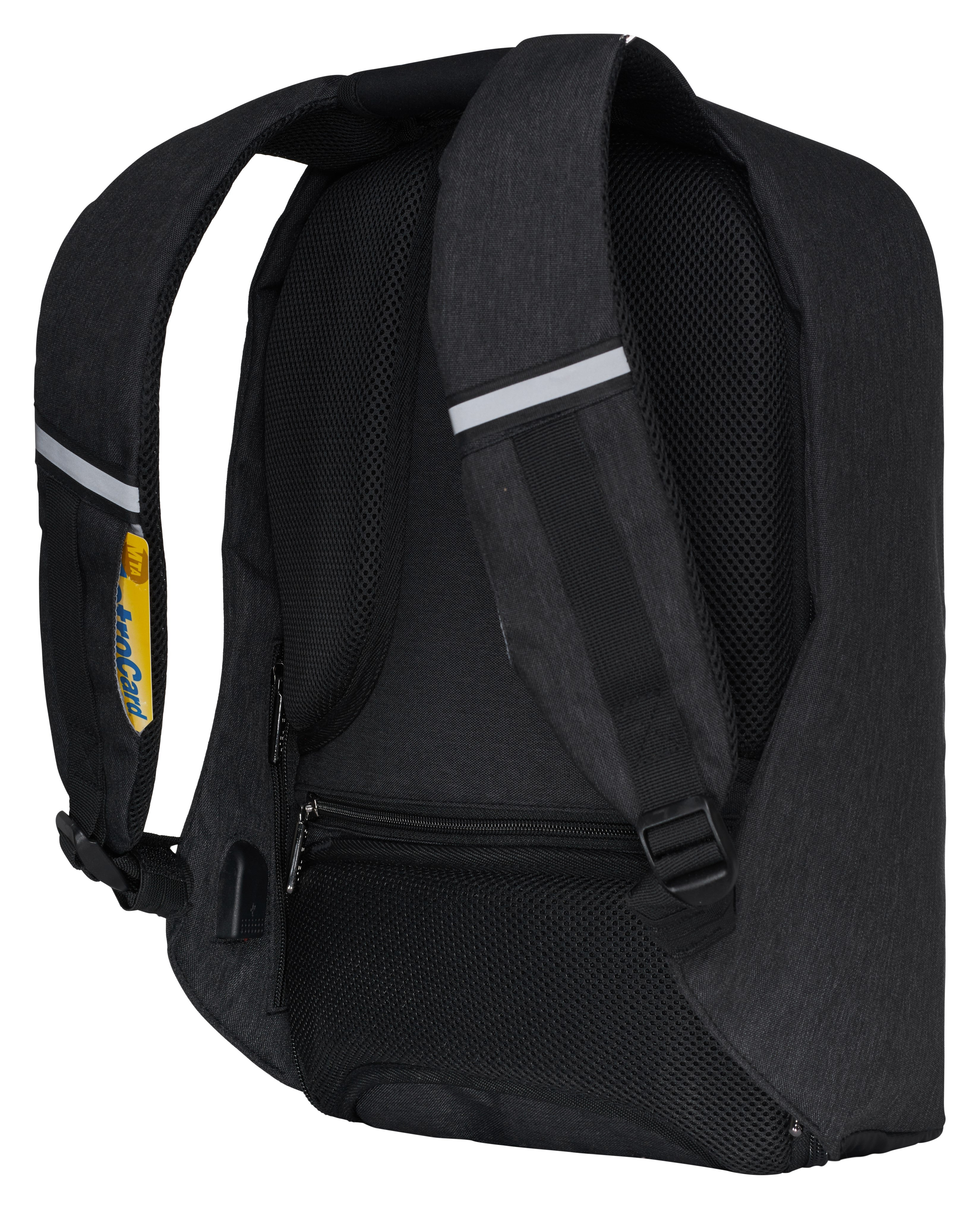 The game theory back side metrocard Black. Secure gamging console bookbag