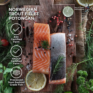 Norwegian Trout Fillet Potongan