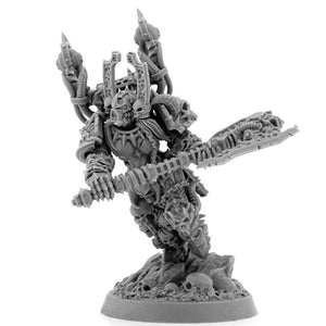 Wargame Exclusive CHAOS AXE CHAMPION 28mm New - TISTA MINIS