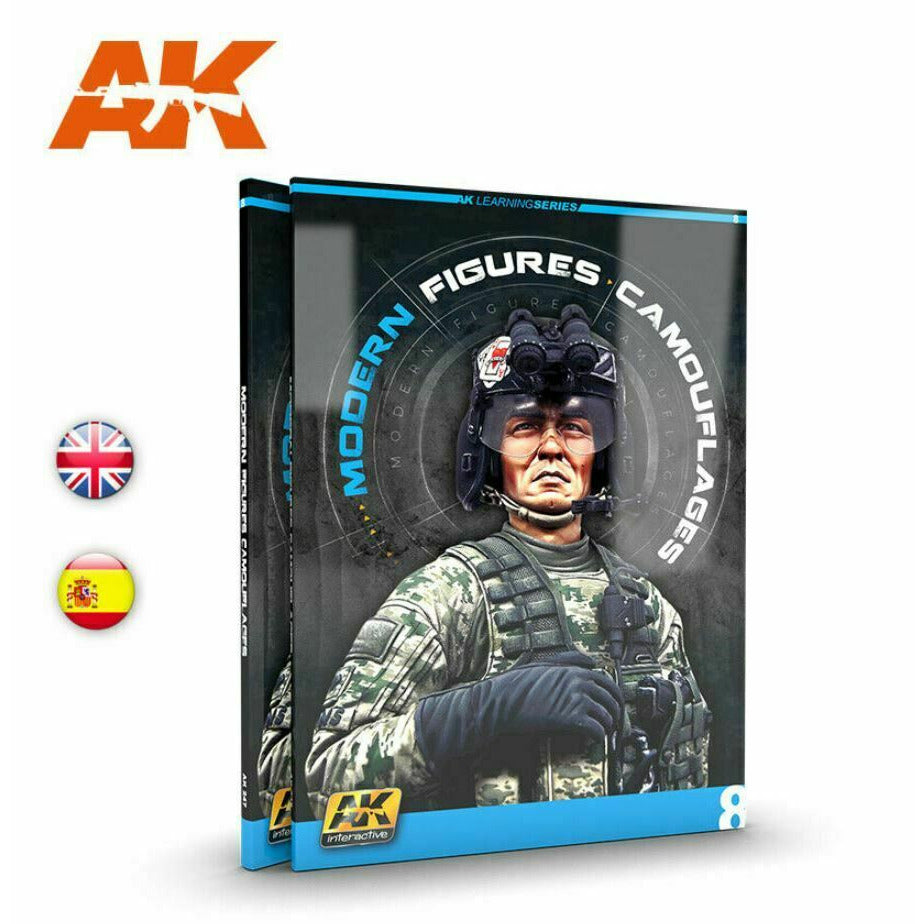 AK Interactive MODERN FIGURES CAMOUFLAGES (AK LERNING SERIES No 8) Book New - TISTA MINIS