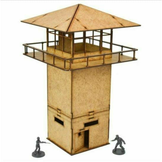 The Walking Dead: MDF Prison Tower Scenery Set New