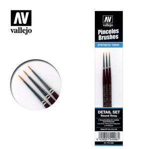 Vallejo Pinceles Brsuhes Detail Set Round Toray - VAL54998