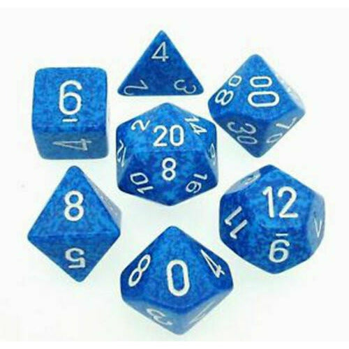 Chessex Speckled Water 7pc Dice Set CHX25306 New