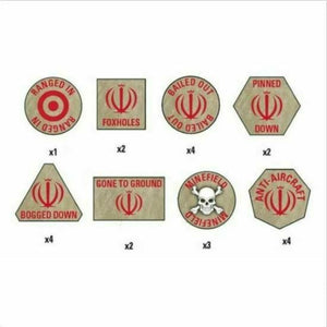 Team Yankee Iranian Token Set New
