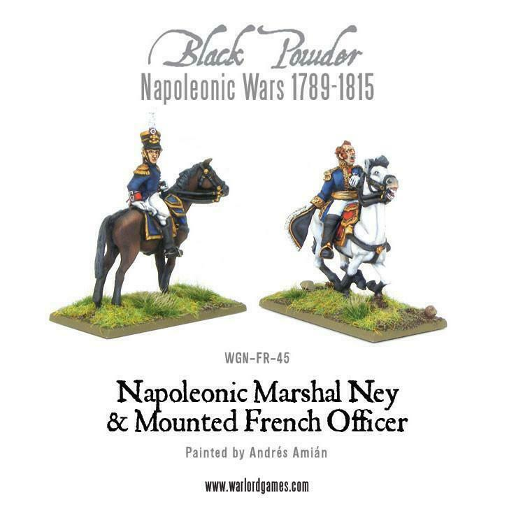 Black Powder Marshal Ney & Mounted French Brigade Officer New