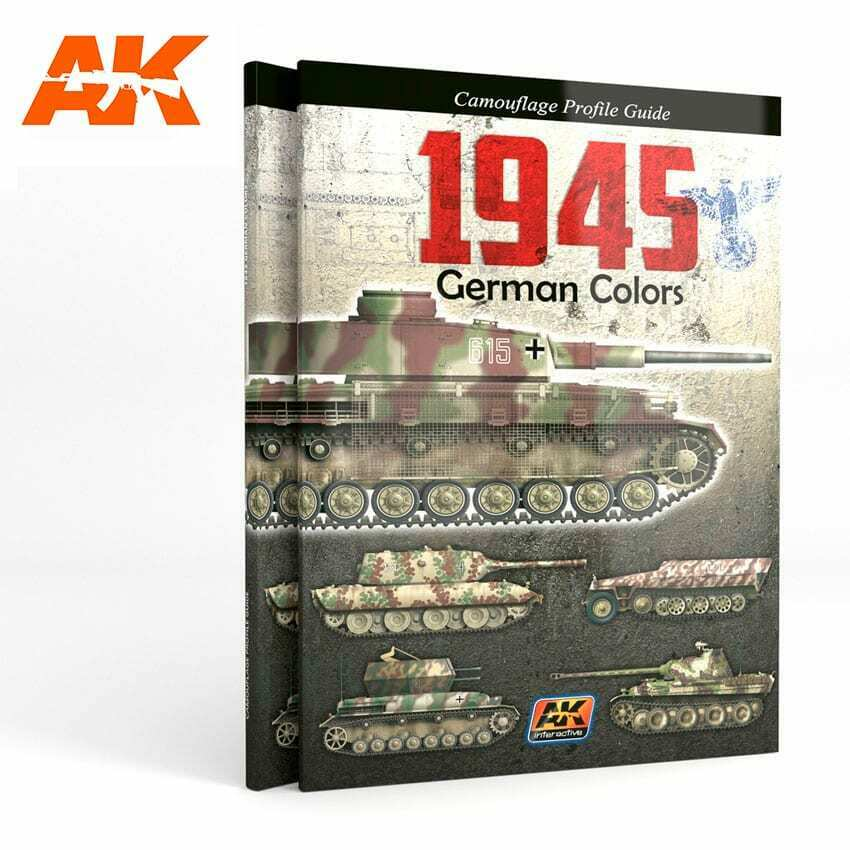 AK Interactive 1945 GERMAN COLORS PROFILE GUIDE New - TISTA MINIS