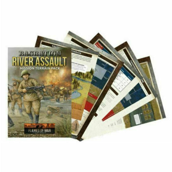 Flames of War - Bagration: River Assault Mission Terrain Pack New