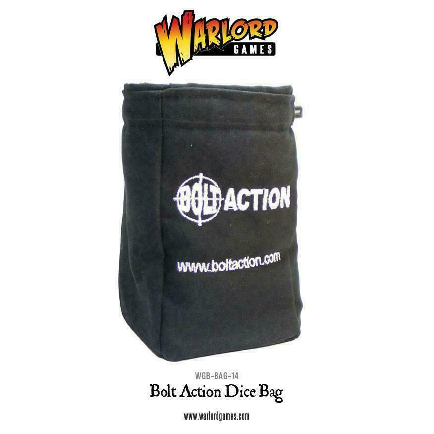Bolt Action Dice Bag & Order Dice (Black) New - 408900001