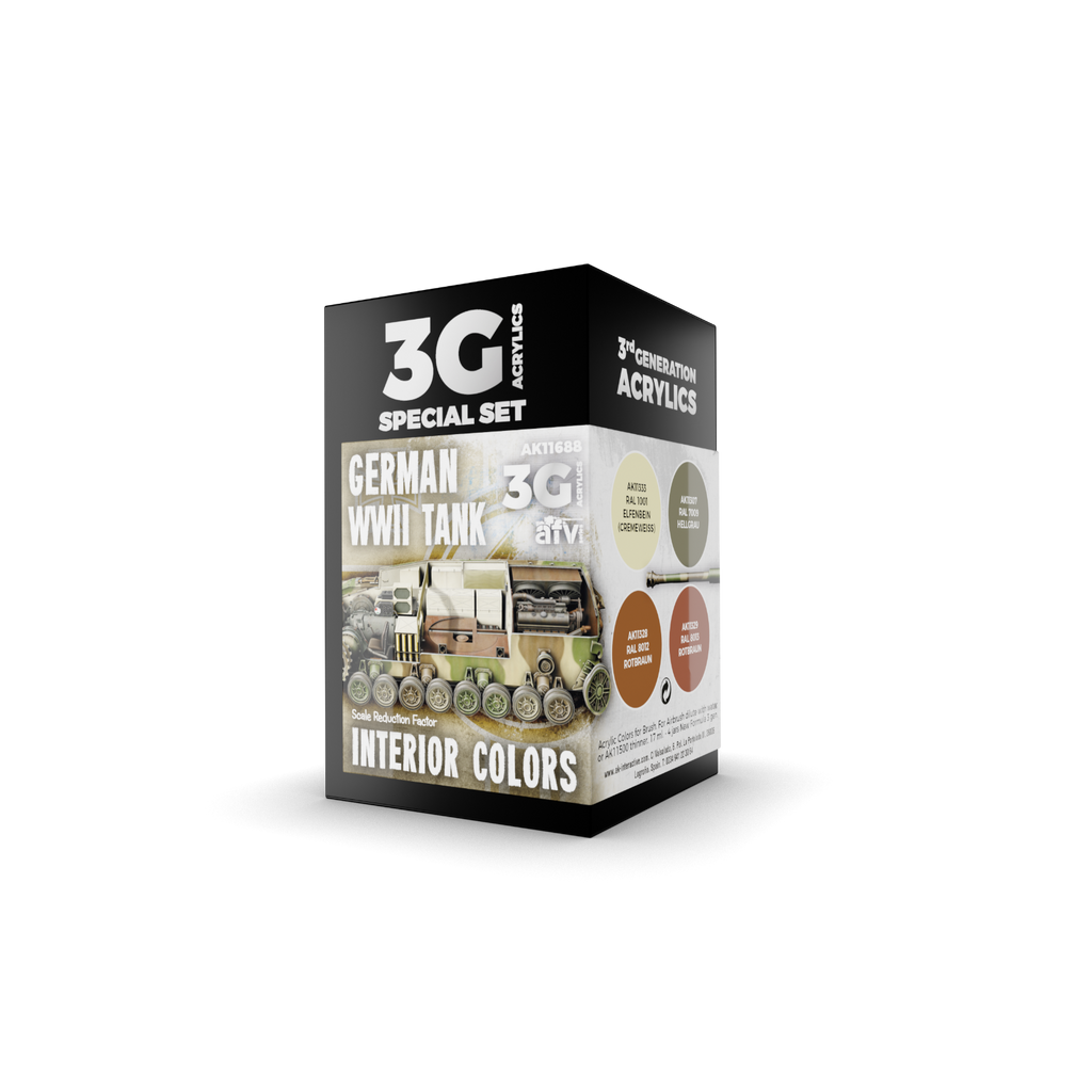 AK Interactive 3G WWII German Tank Interior Colors New - Tistaminis