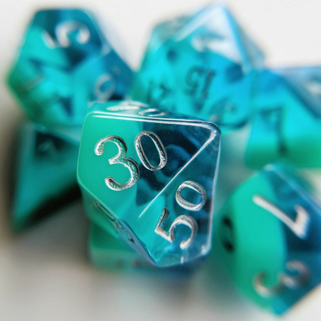 Little Dragon BIRTHDAY DICE DECEMBER TURQUOISE New - TISTA MINIS