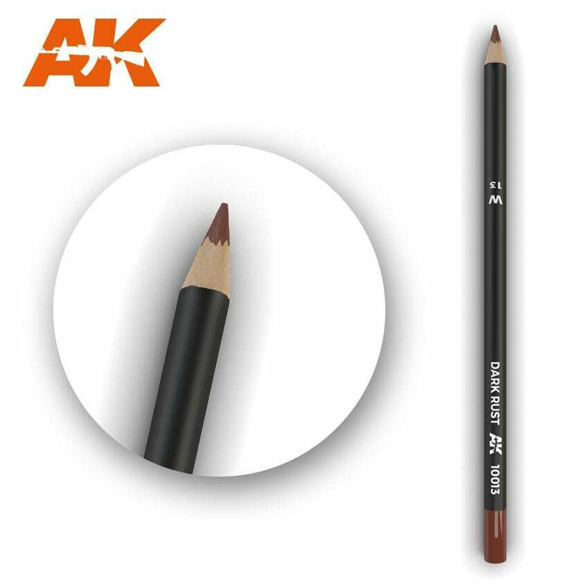 AK Interactive Watercolor Pencil Dark Rust New - TISTA MINIS