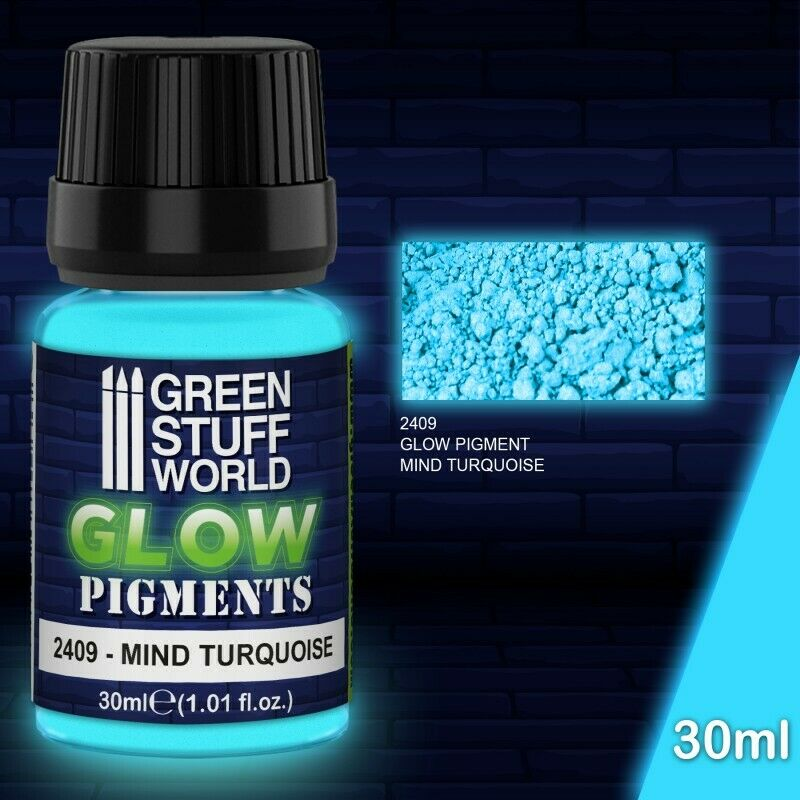 Green Stuff World Glow Pigments - MIND TURQUOISE New - TISTA MINIS