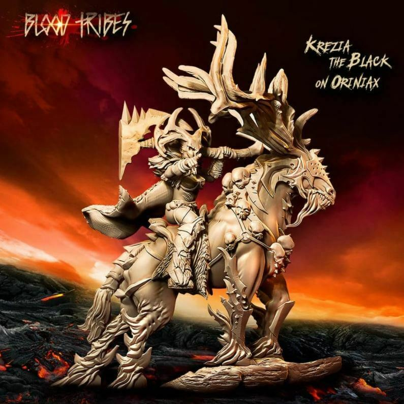 Raging Heroes - KREZIA THE BLACK ON ORINIAX New