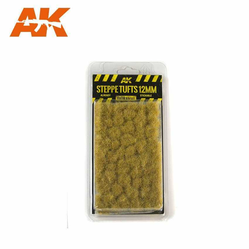 AK Interactive Steppe Tufts 12mm New