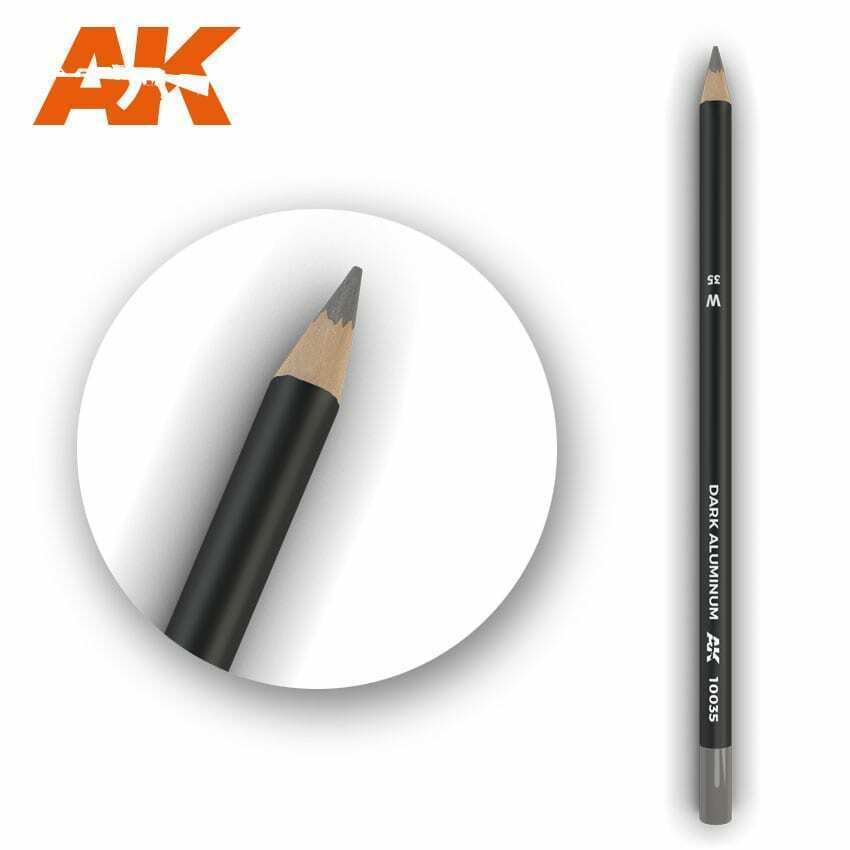 AK Interactive Watercolor Pencil Dark Aluminum Nickel New - TISTA MINIS