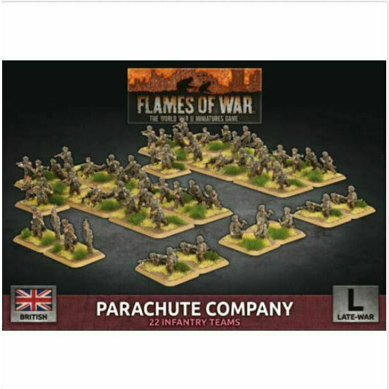 Flames of War British Parachute Company New - TISTA MINIS