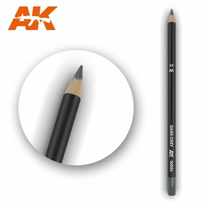 AK Interactive Watercolor Pencil Dark Grey New - TISTA MINIS