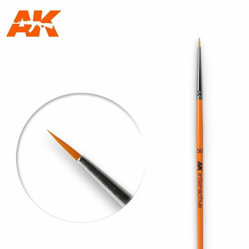 AK Interactive Round Brush 5/0 Synthetic New