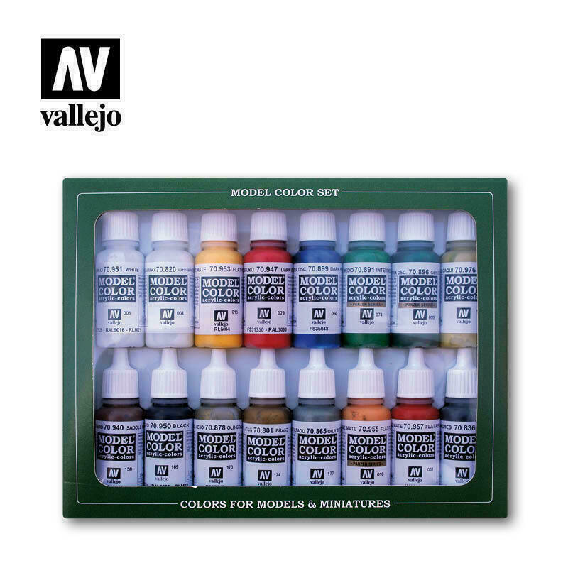 Vallejo VAL70149 NAPOLEONIC COLORS FRENCH & BRITISH 1789-1815 Paint Set New