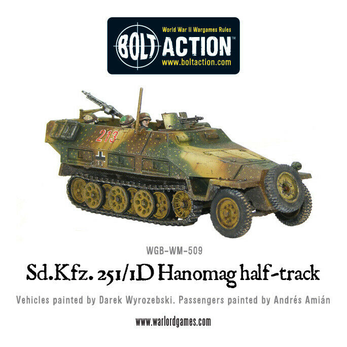 Bolt Action Sd Kfz 251/1 Ausf D Hanomag New
