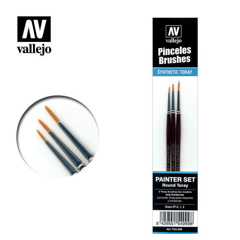 Vallejo Synthetic Brush Set New - VAL54999