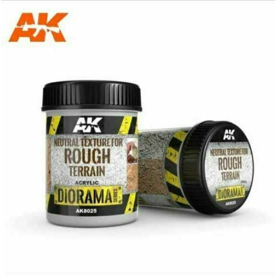 AK Interactive Neutral Texture For Rough Terrain 250ml New