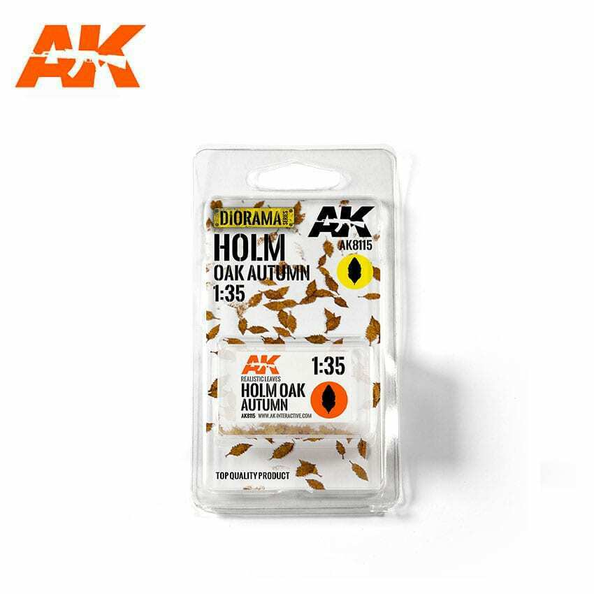 AK Interactive Holm Oak Autumn 1/35 Scenic Basing Dry Leaves New